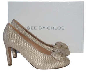 See by Chloé Gold Pumps
