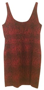 Michael Kors short dress Red and Black Tank Sleeveless Reptile on Tradesy