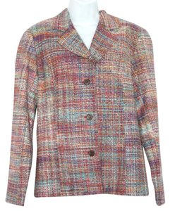 Coldwater Creek Tweed Jacket MULTICOLOR Blazer