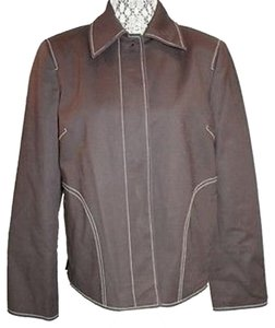 Ellen Tracy Linda Allard Jacket BROWN Blazer