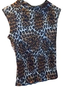 OBEY Top Brown animal print