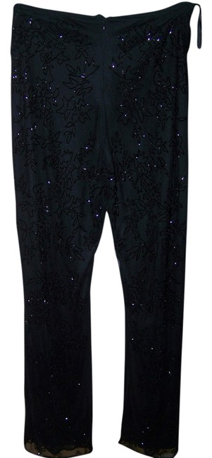 Laurence Kazar 8 Night Out Beaded Flare Pants Black