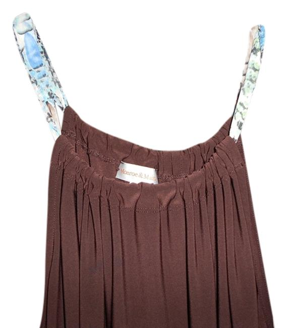 Item - Brown with Bruwn and Blue Sash Tank Top/Cami Size 22 (Plus 2x)