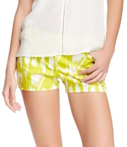 Trina Turk Print Myrta Tropical Twinged Mini/Short Shorts yellow