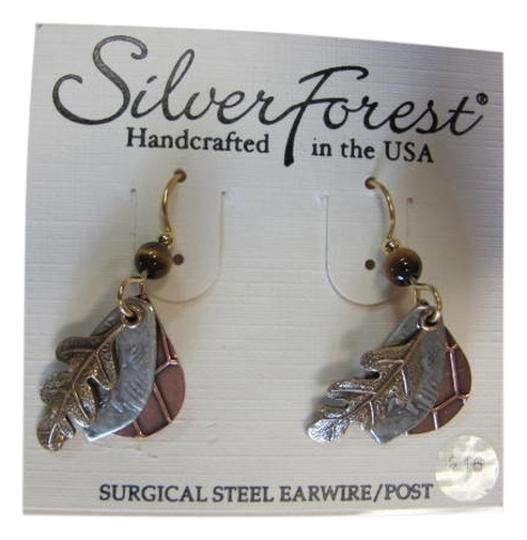 Silver Forest NEW ON CARD 3 CHARMS LAYERED