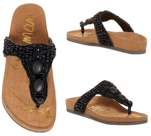 Sam Edelman Embellished Comfortable Black Sandals