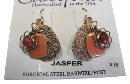 Preload https://item4.tradesy.com/images/silver-forest-goldtone-coral-color-new-with-tags-3-layered-charms-jasper-earrings-941823-0-0.jpg?width=440&height=440