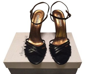 Charles David Sandal Leather BLACK Sandals