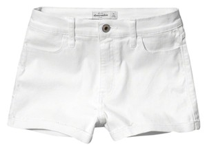 abercrombie kids A&f Demin Denim Shorts White