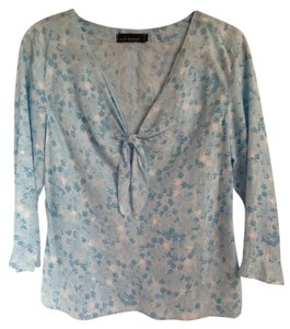 Cut Loose Top 'Cut Loose' Blue / White Cotton Casual
