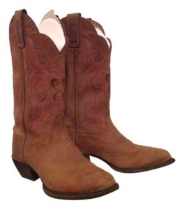 Tony Lama Brown with design Boots