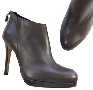 L.K. Bennett Ankle Leather NEW dark almond brown Boots