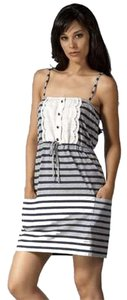 Juicy Couture short dress Gray, Blue, Navy, White, Gold Lace Stripe on Tradesy