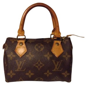 Louis Vuitton Mini Speedy Lv Satchel in Monogram