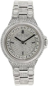 Michael Kors Camille Silver Crystal Pave Stainless Steel Watch MK5947