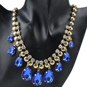Avatar Imports BLUE STATEMENT BIB NECKLACE