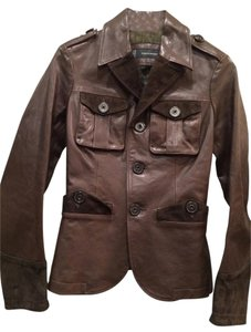 DSquared Brown Leather Jacket