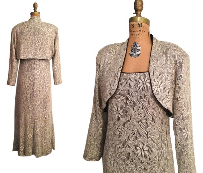 Preload https://item1.tradesy.com/images/betsy-and-adam-bronze-metallic-lace-evening-gown-long-sheath-cocktail-and-bolero-ml-long-formal-dres-9420610-0-1.jpg?width=400&height=650