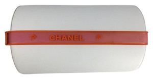 Chanel Chanel Orange/Pink Matter Rubber Headband