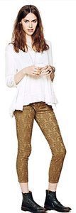 Free People Jacquard Ankle Cropped Skinny Jeans