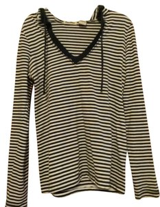 Paris Blues Stripes Striped Longsleeve Hooded Drawstring Sweater