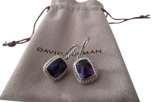 David Yurman David Yurman Noblesse Collection - Amethyst & Diamond Drop Earrings