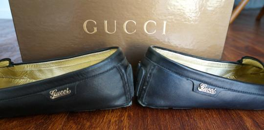 Gucci Leather Loafers Black Flats