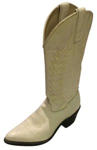 Texas Leather Manufacturing White Boots