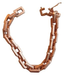 Eddie Borgo Rose Gold Modern links bracelet