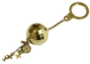 Louis Vuitton Authentic Louis Vuitton Porte Cle Glitter Key Holders Key Ring Gold (with dust bag)
