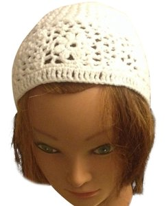 Handmade White Crochet Beatiful Hat