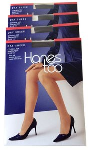 Hanes 4 prs. Control Top Sandalfoot Style 137