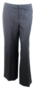 Banana Republic Straight Pants Black Striped