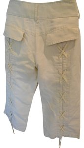 BCBGMAXAZRIA Laces Pants 6 Small Khaki Summer Capris light khaki