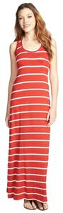 Red Maxi Dress by Max & Mia Striped Maxi Maxi Long Stripes And White Racerback Spandex Striped Maxi Long Maxi Striped And Cream Long Maxi