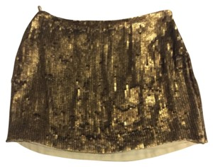 Haute Hippie Mini Skirt Gold