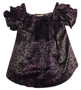 Rebecca Taylor Top Black/gray/purple
