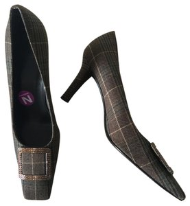 Stuart Weitzman Brown Plaid Pumps
