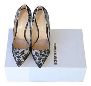 Nicholas Kirkwood Pump black/white lace Pumps