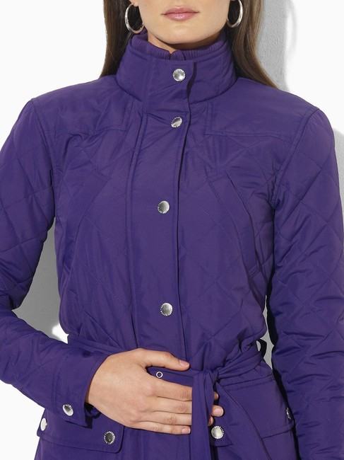 Lauren Ralph Lauren New With Tags Belted Microfibre Quilted Size 1x Coat