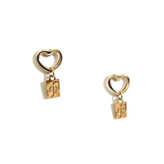 Elliot Francis Gold dainty heart studs