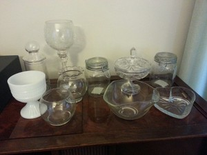 Lot Of Dishes For Candy Buffet