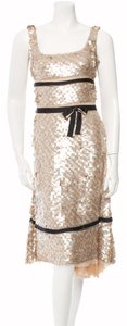 Prada Sequin Night Out Party Holiday Bow Dress