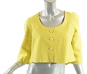 Rebecca Taylor Linen Crop Yellow Jacket