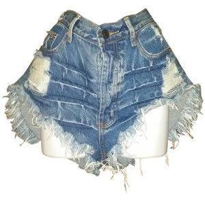 Forever 21 Mini/Short Shorts blue distressed