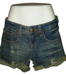 Mossimo Supply Co. Frayed Tight Cut Off Shorts blue Jean shorts