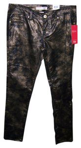 No Boundaries No 9 Juniors Metallic Animal Print Skinny Pants Multi Color