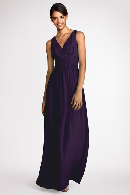 Item - Amethyst Silk Chiffon Julie Formal Bridesmaid/Mob Dress Size 4 (S)