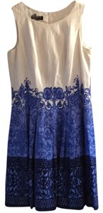 Jones New York short dress Blue / white on Tradesy