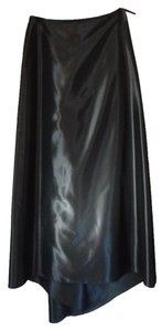 Tahari Maxi Skirt Charcoal Grey Satin
